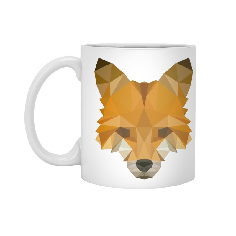 Low poly fox Accessories Mug by Origami Studio