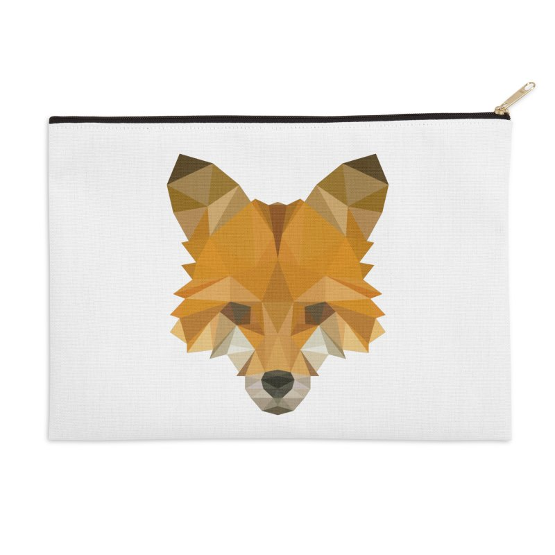 Low poly fox Accessories Zip Pouch by Origami Studio