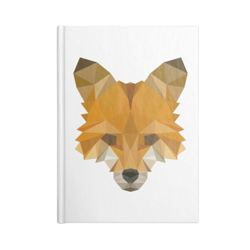 Low poly fox Accessories Blank Journal Notebook by Origami Studio