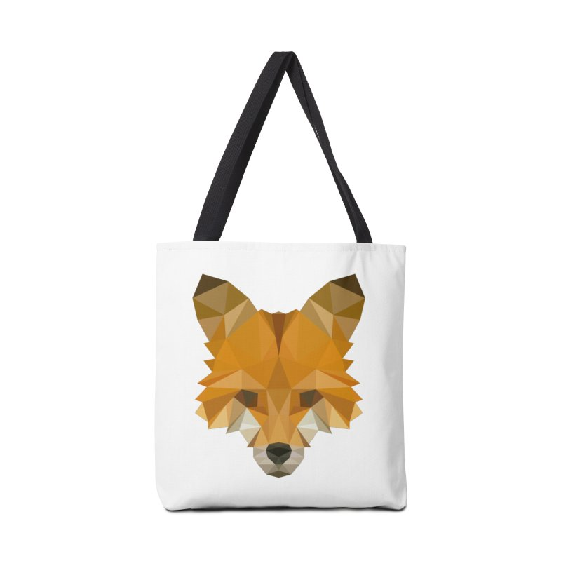 Low poly fox Accessories Tote Bag Bag by Origami Studio