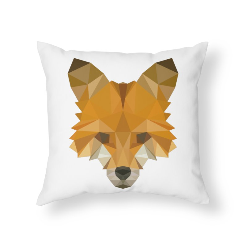 Low poly fox Home Throw Pillow by Origami Studio