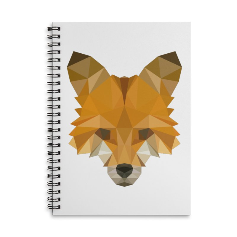Low poly fox Accessories Lined Spiral Notebook by Origami Studio