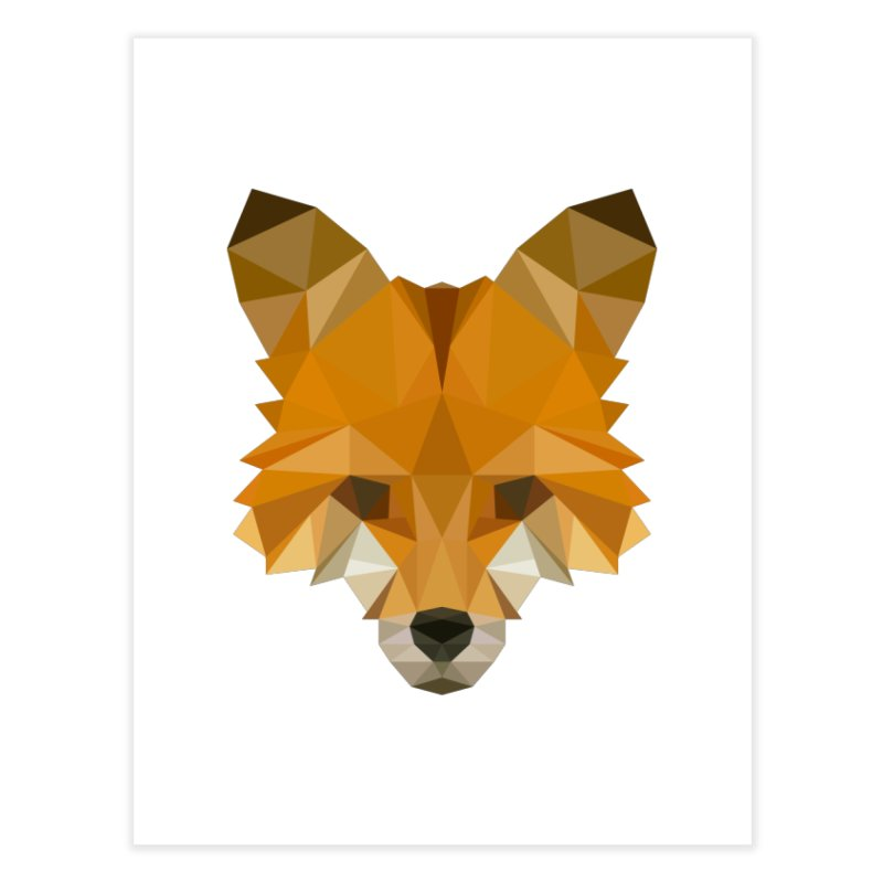 Low poly fox Home Fine Art Print by Origami Studio