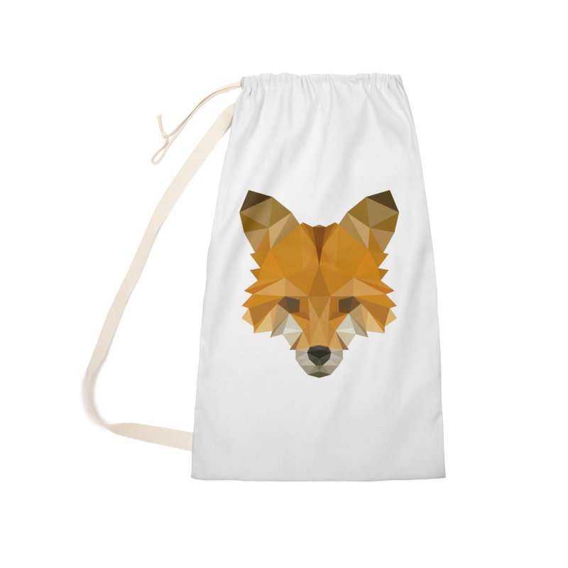 Low poly fox Accessories Laundry Bag Bag by Origami Studio