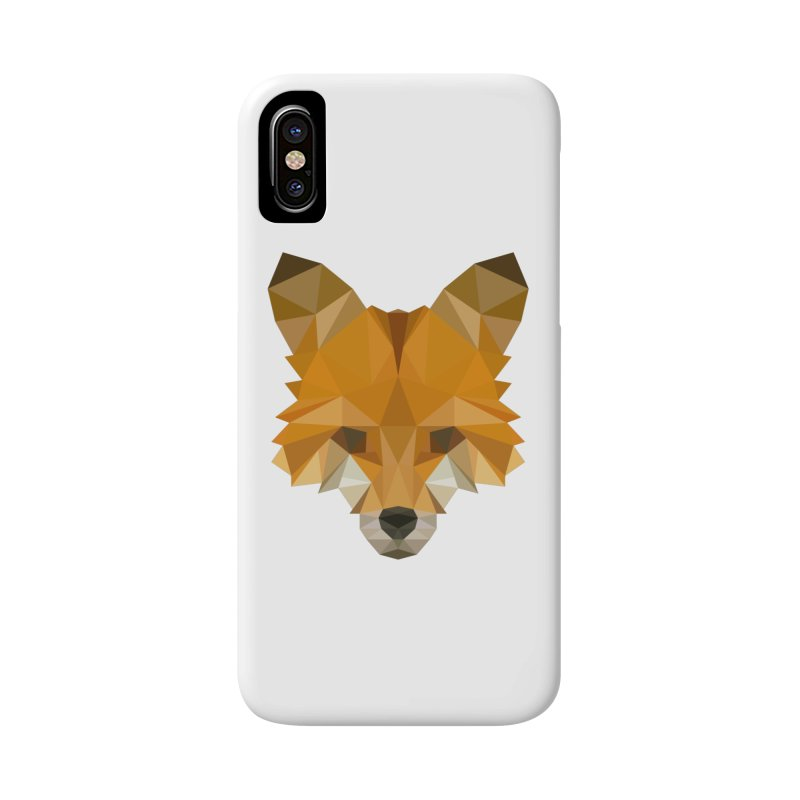 Low poly fox Accessories Phone Case by Origami Studio