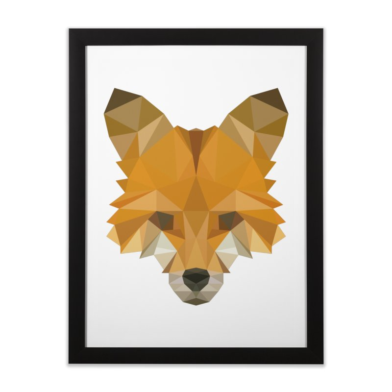 Low poly fox Home Framed Fine Art Print by Origami Studio