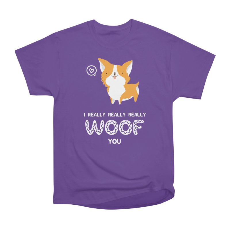 Corgi love Men's Heavyweight T-Shirt by Origami Studio