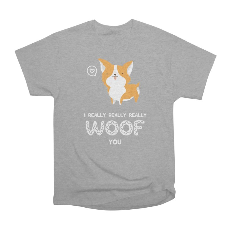 Corgi love Women's Heavyweight Unisex T-Shirt by Origami Studio