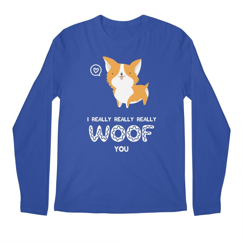 Corgi love Men's Regular Longsleeve T-Shirt by Origami Studio