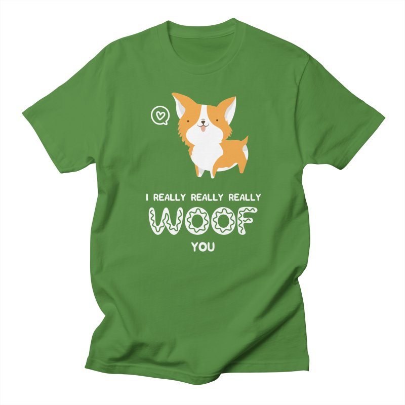 Corgi love Women's Regular Unisex T-Shirt by Origami Studio