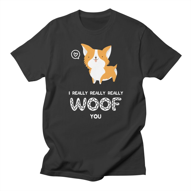 Corgi love Men's T-Shirt by Origami Studio
