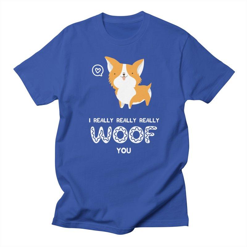 Corgi love Women's Regular Unisex T-Shirt by Origami Studio