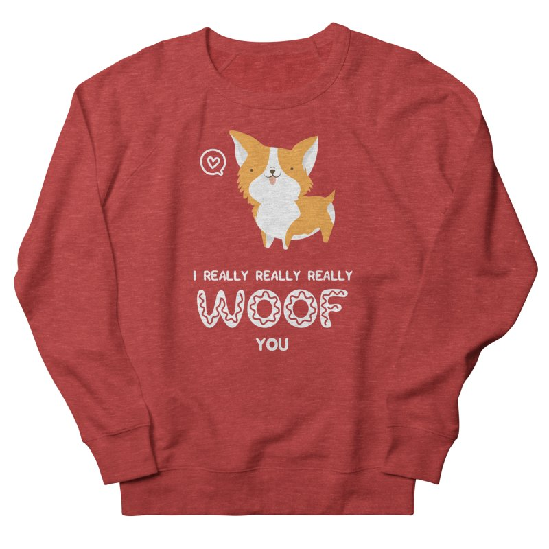 Corgi love Women's French Terry Sweatshirt by Origami Studio