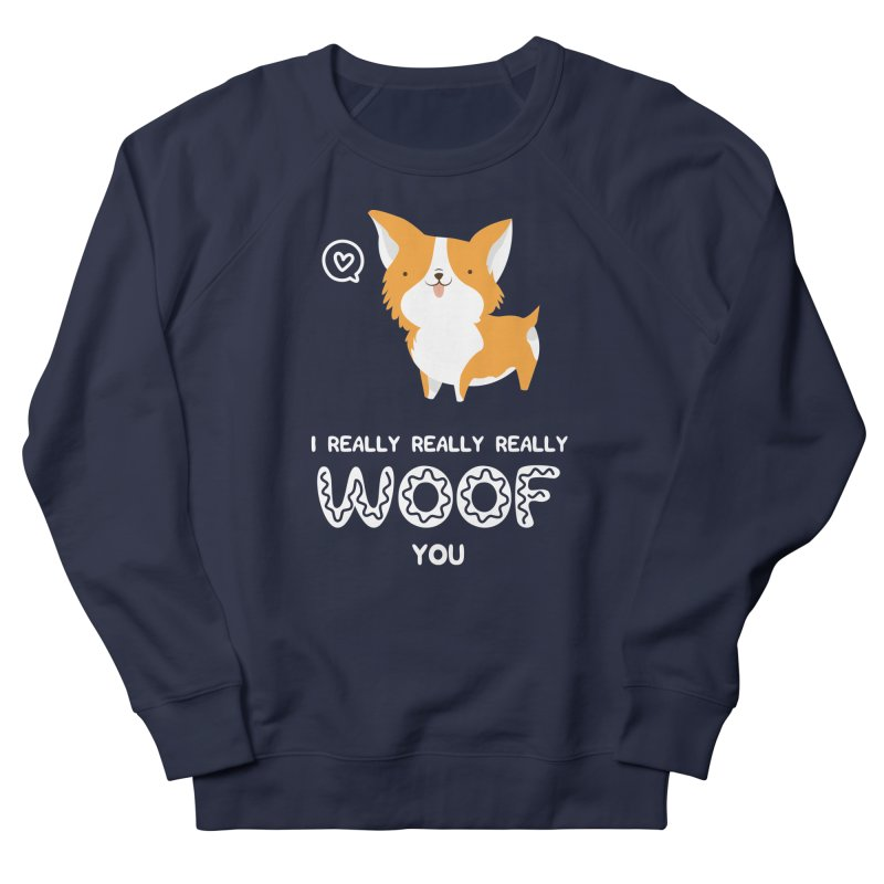 Corgi love Women's French Terry Sweatshirt by Origami Studio