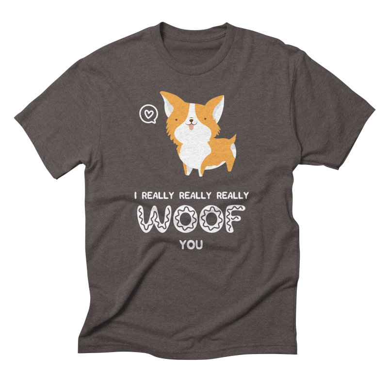 Corgi love Men's Triblend T-Shirt by Origami Studio