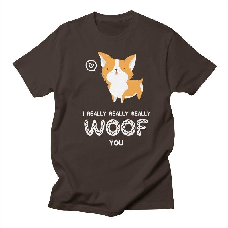 Corgi love Men's T-Shirt by Origami Studio