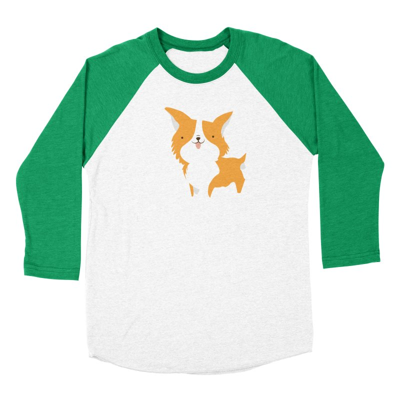 Corgi love Women's Baseball Triblend Longsleeve T-Shirt by Origami Studio