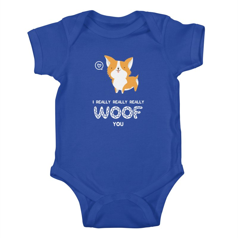 Corgi love Kids Baby Bodysuit by Origami Studio