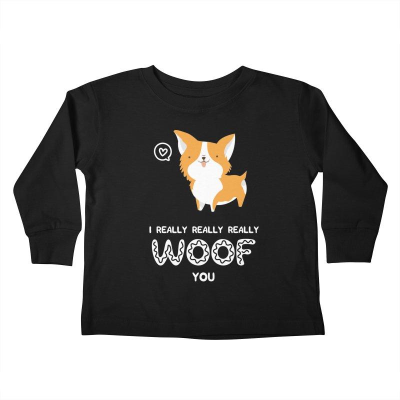 Corgi love Kids Toddler Longsleeve T-Shirt by Origami Studio