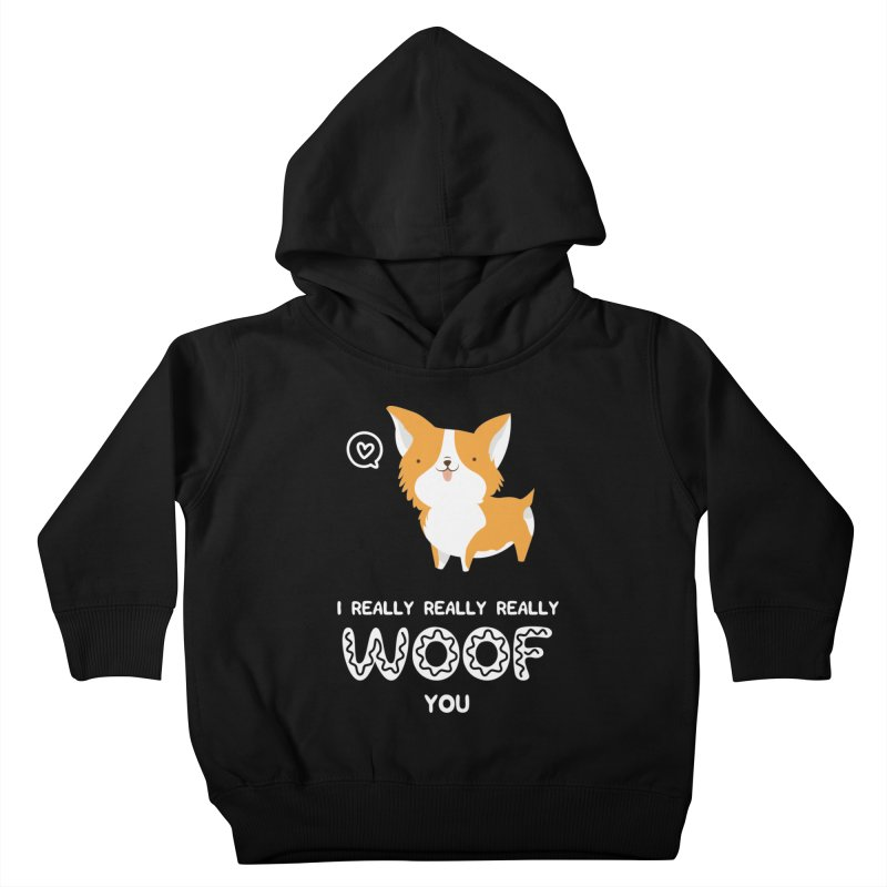 Corgi love Kids Toddler Pullover Hoody by Origami Studio