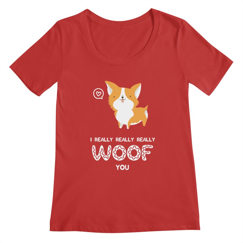 Corgi love Women's Regular Scoop Neck by Origami Studio