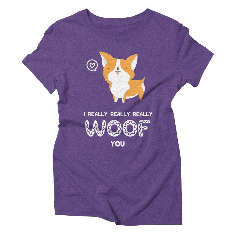 Corgi love Women's Triblend T-Shirt by Origami Studio