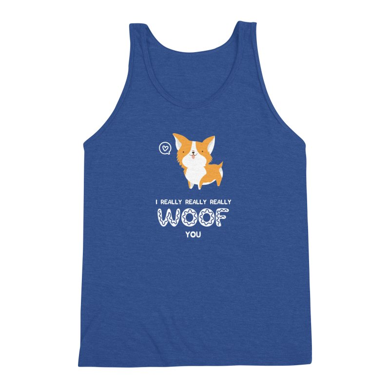 Corgi love Men's Triblend Tank by Origami Studio