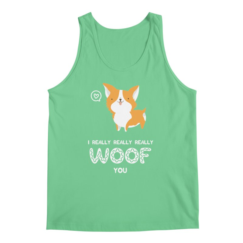 Corgi love Men's Regular Tank by Origami Studio