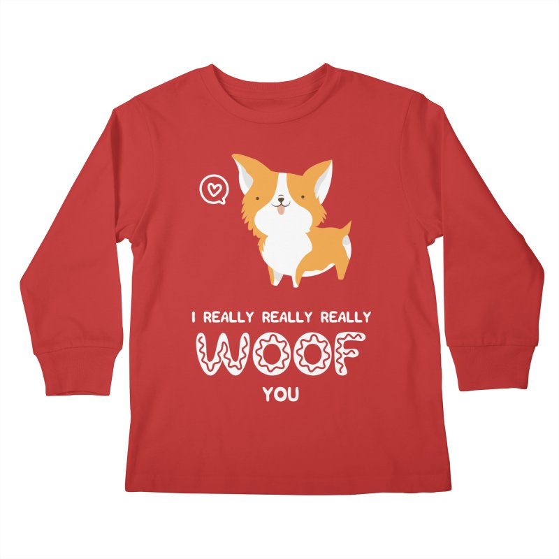 Corgi love Kids Longsleeve T-Shirt by Origami Studio