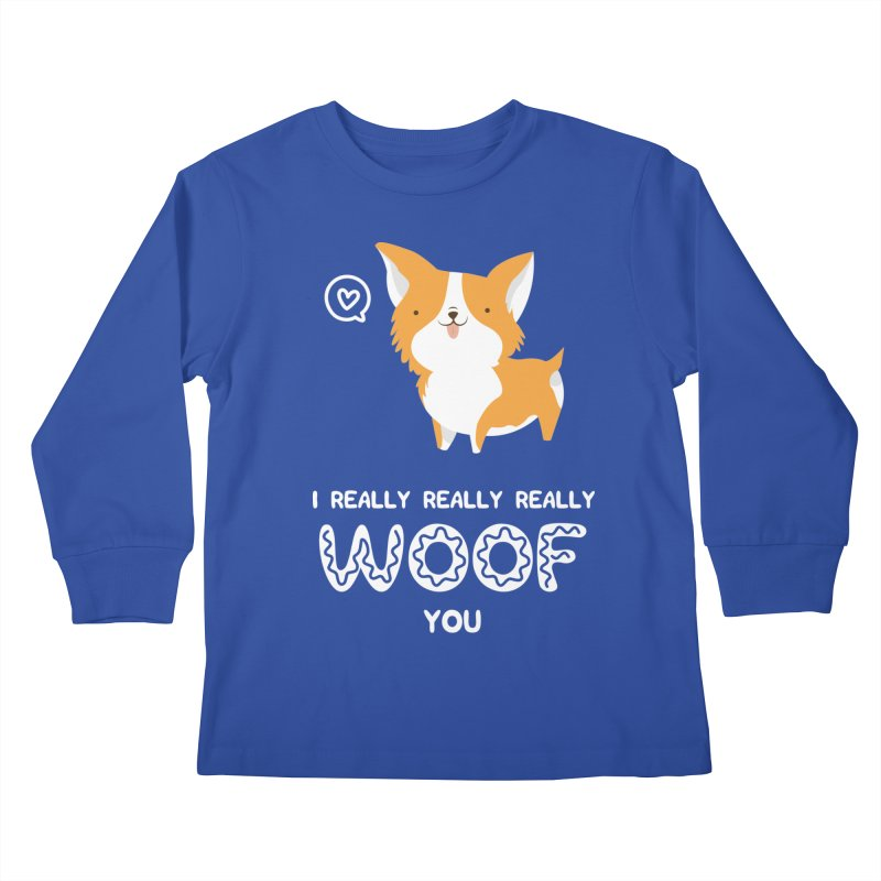 Corgi love Kids Longsleeve T-Shirt by Origami Studio
