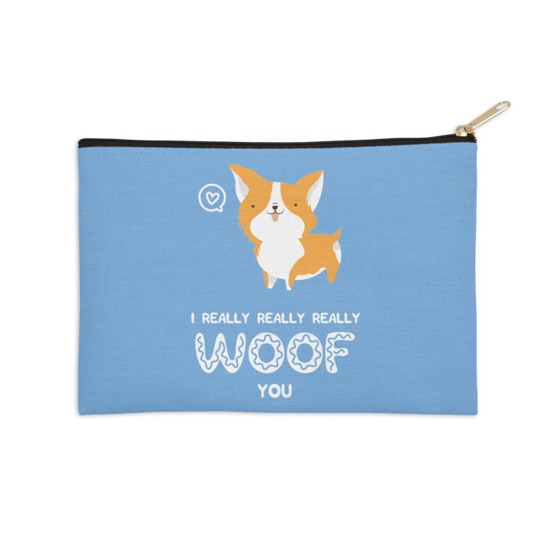Corgi love Accessories Zip Pouch by Origami Studio