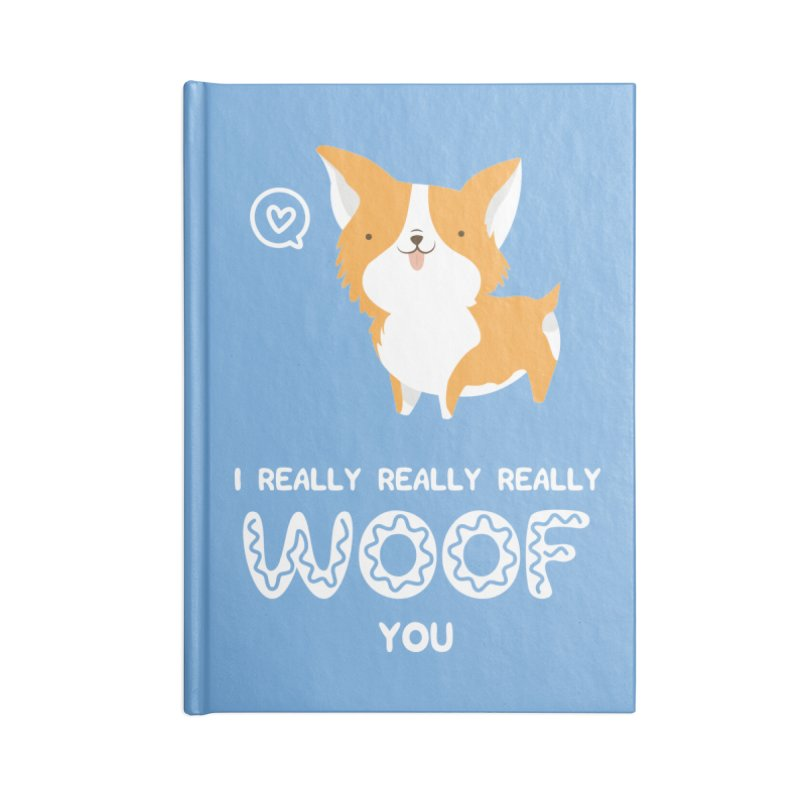 Corgi love Accessories Lined Journal Notebook by Origami Studio
