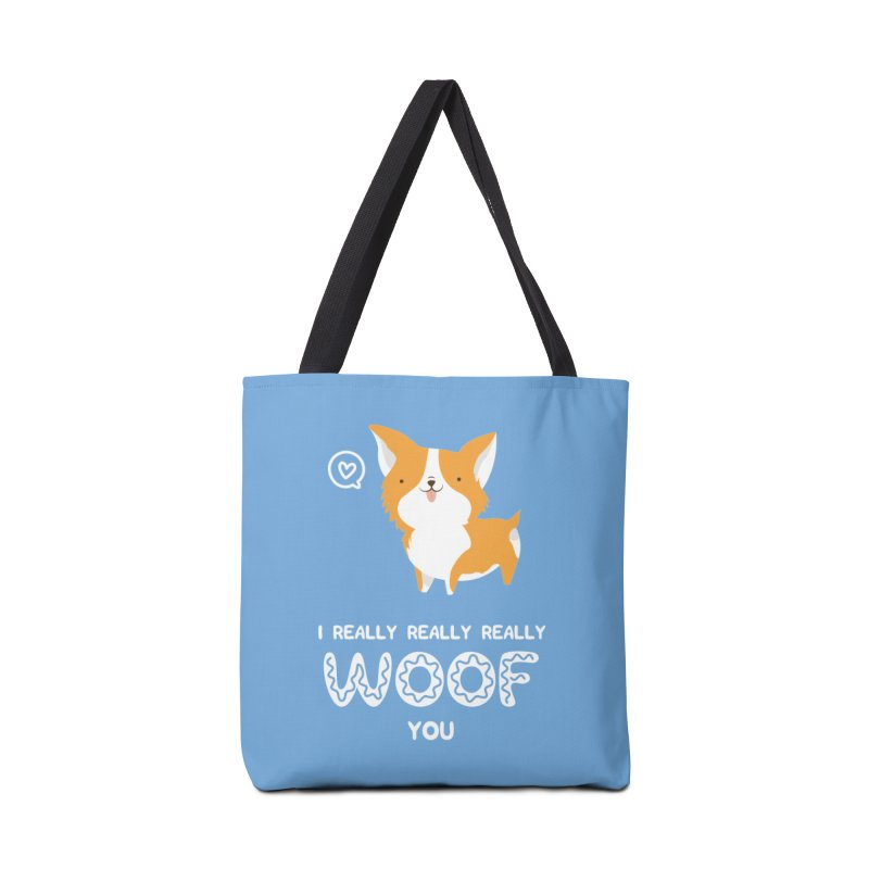 Corgi love Accessories Tote Bag Bag by Origami Studio