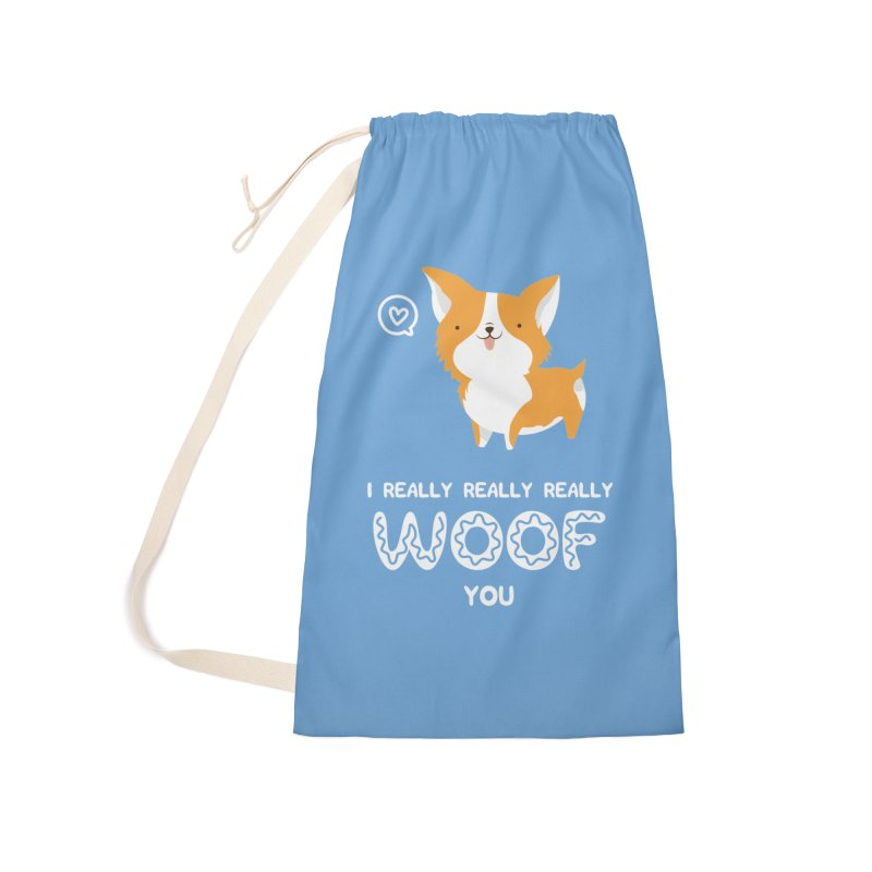 Corgi love Accessories Laundry Bag Bag by Origami Studio