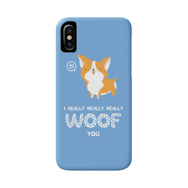 Corgi love Accessories Phone Case by Origami Studio