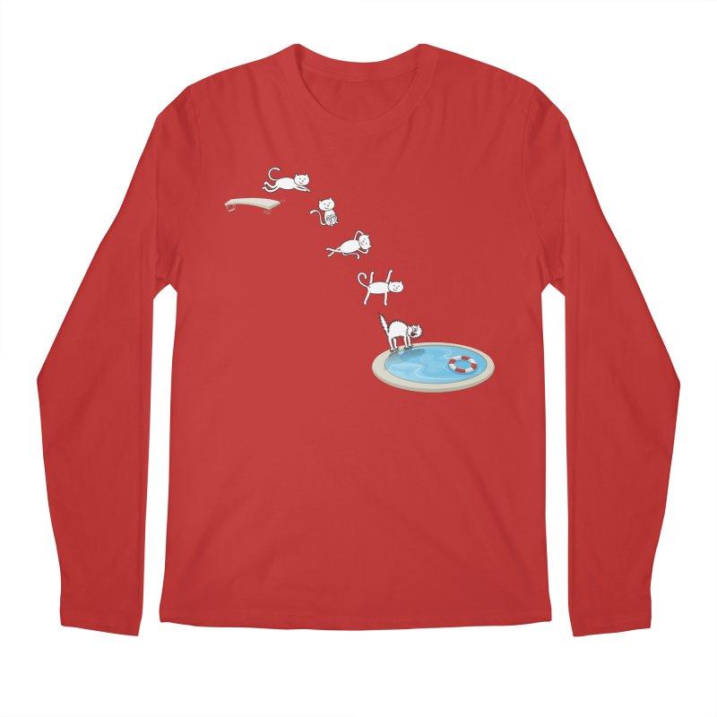 LET'S SWIMMM! =^.^= Men's Regular Longsleeve T-Shirt by Origine's Shop
