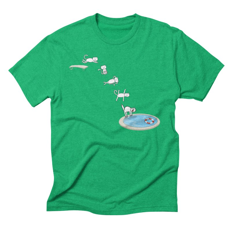 LET'S SWIMMM! =^.^= Men's Triblend T-Shirt by Origine's Shop