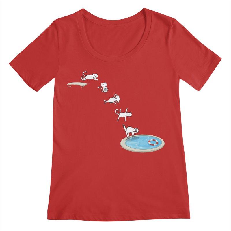 LET'S SWIMMM! =^.^= Women's Regular Scoop Neck by Origine's Shop