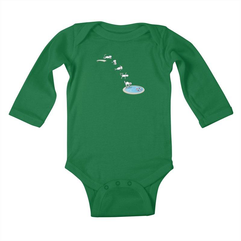 LET'S SWIMMM! =^.^= Kids Baby Longsleeve Bodysuit by Origine's Shop