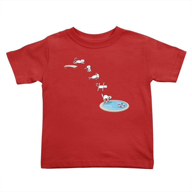 LET'S SWIMMM! =^.^= Kids Toddler T-Shirt by Origine's Shop
