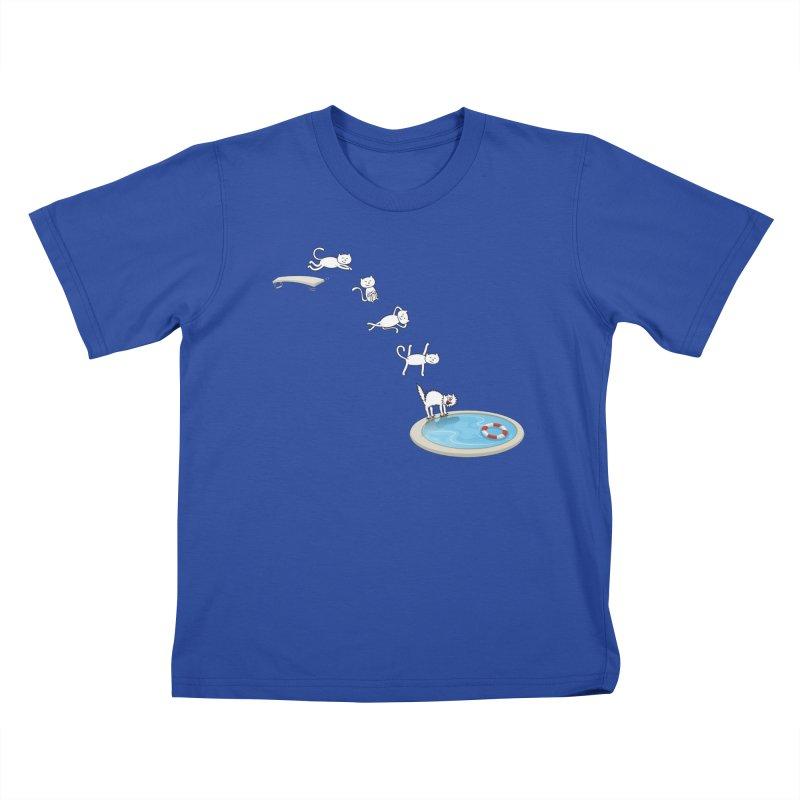 LET'S SWIMMM! =^.^= Kids T-Shirt by Origine's Shop