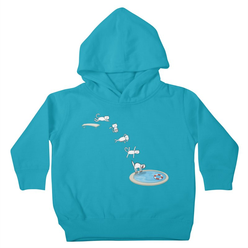 LET'S SWIMMM! =^.^= Kids Toddler Pullover Hoody by Origine's Shop
