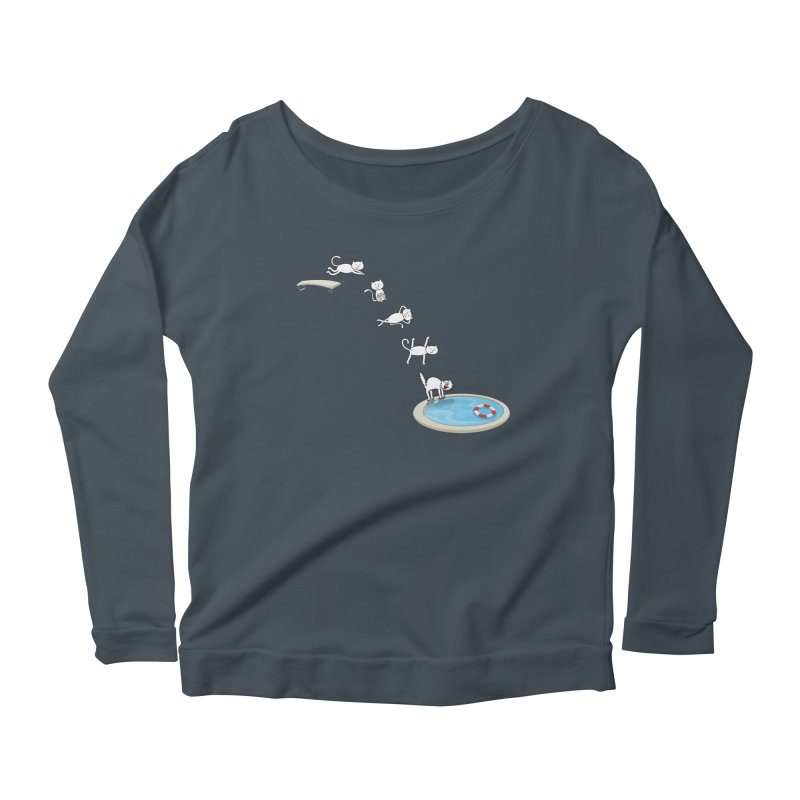 LET'S SWIMMM! =^.^= Women's Scoop Neck Longsleeve T-Shirt by Origine's Shop