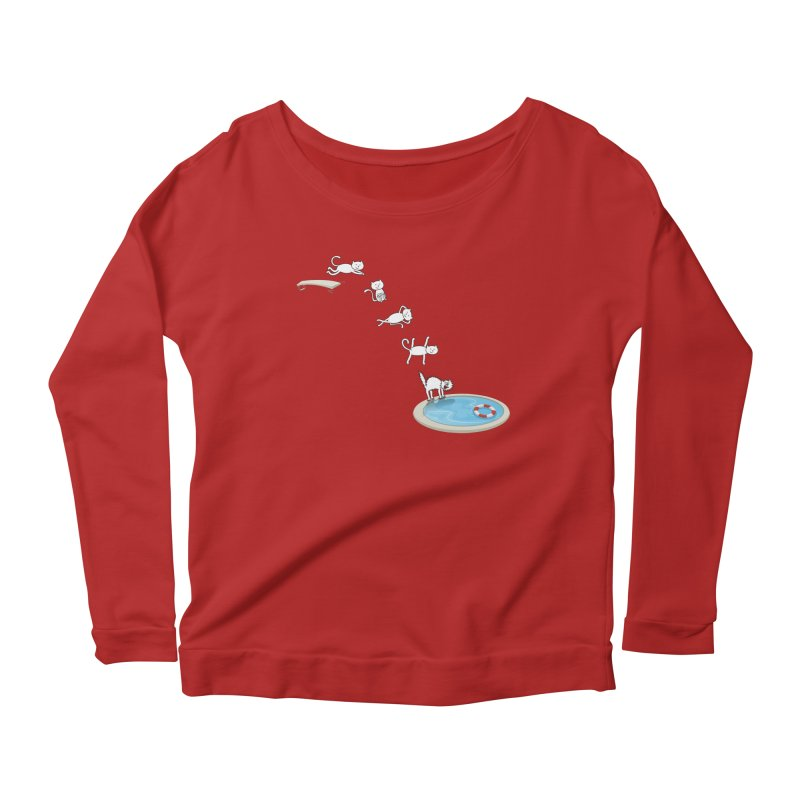 LET'S SWIMMM! =^.^= Women's Longsleeve Scoopneck  by Origine's Shop