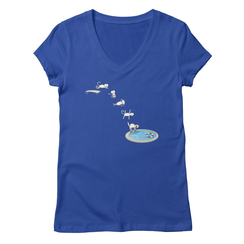 LET'S SWIMMM! =^.^= Women's Regular V-Neck by Origine's Shop