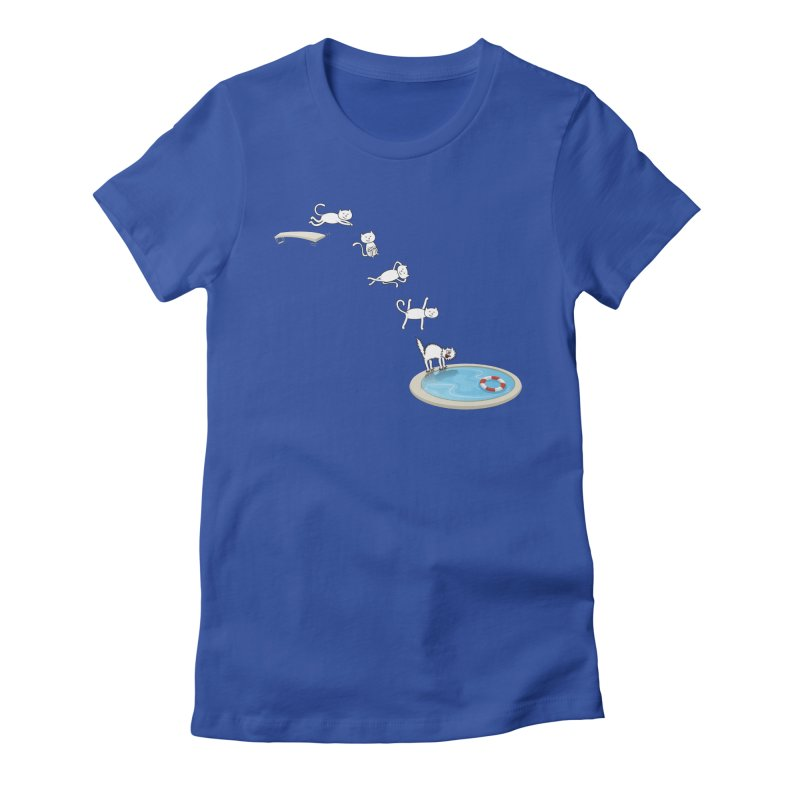 LET'S SWIMMM! =^.^= Women's Fitted T-Shirt by Origine's Shop