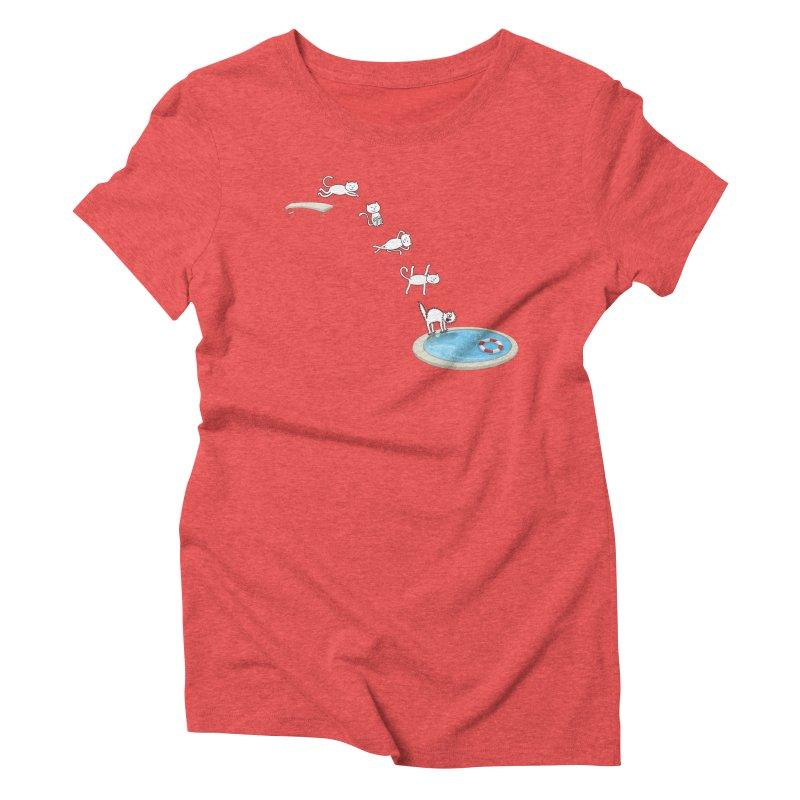 LET'S SWIMMM! =^.^= Women's Triblend T-Shirt by Origine's Shop