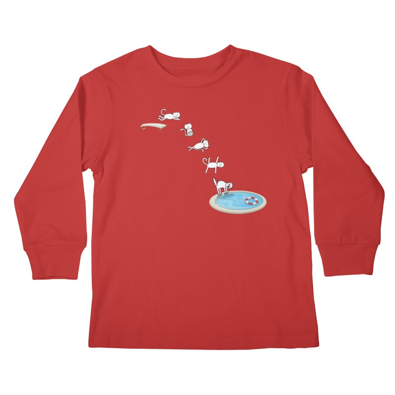 LET'S SWIMMM! =^.^= Kids Longsleeve T-Shirt by Origine's Shop
