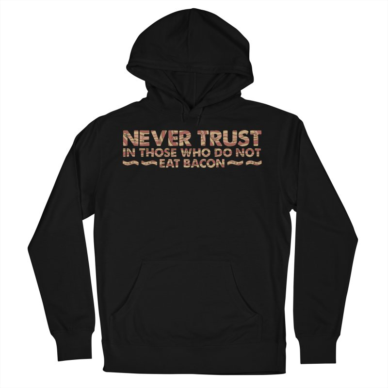 ~ NEVER TRUST ~ in Men's French Terry Pullover Hoody Black by Origine's Shop