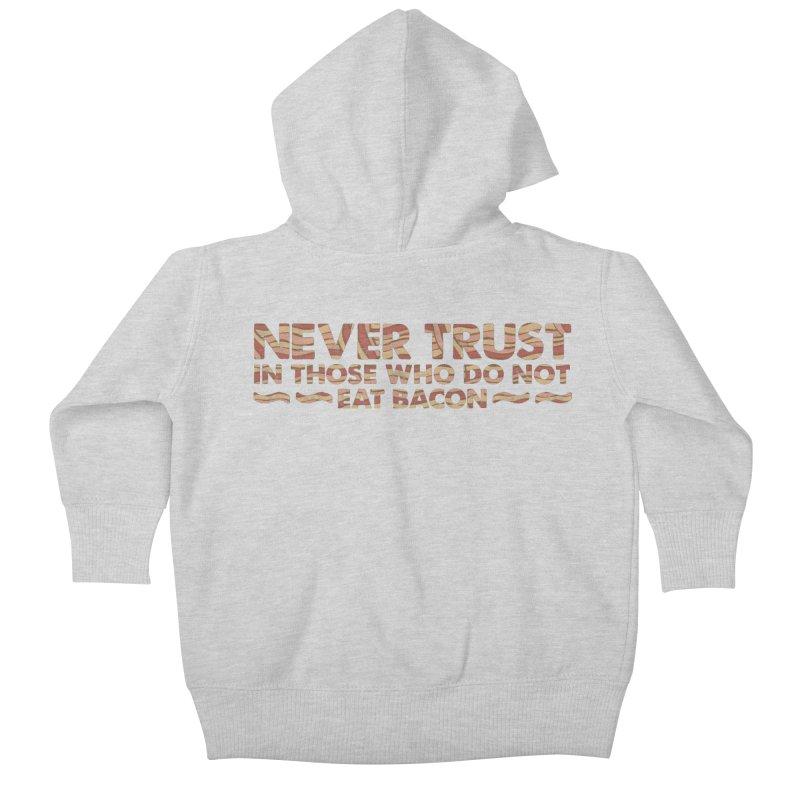 ~ NEVER TRUST ~ Kids Baby Zip-Up Hoody by Origine's Shop
